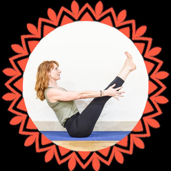 Toward Yoga Navasana Circle